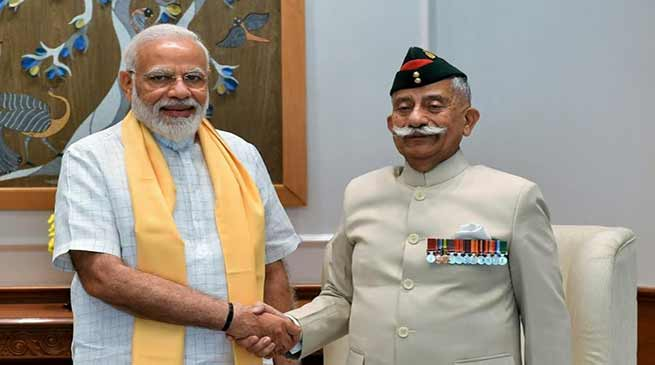 Arunachal Governor calls on the Prime Minister Narendra Modi