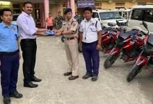 Itanagar: DC Capital Complex hands over motorcycles to Traffic Incharges