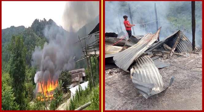 Arunachal: Fire devour GB's residence at Totpu village