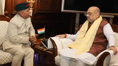 Arunachal Governor BD Mishra meets Union Home Minister Amit Shah