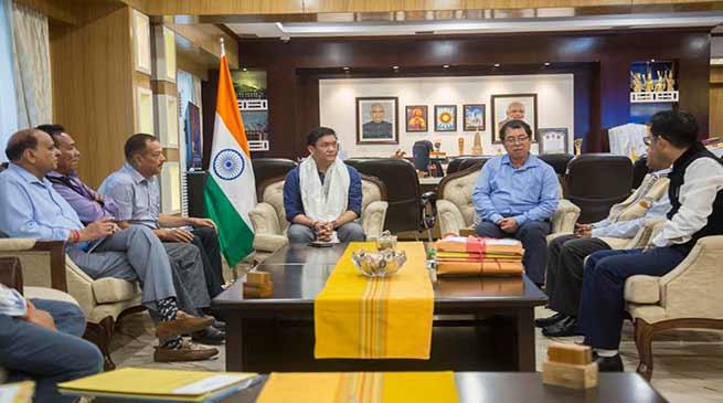 Arunachal: APPSC Chairman Nipo Nabam called on CM Pema Khandu