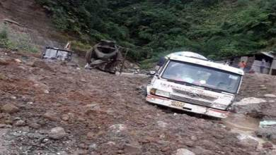 Photo of Arunachal: Heavy rain triggered landslide on Itanagar-Naharlagun NH-415