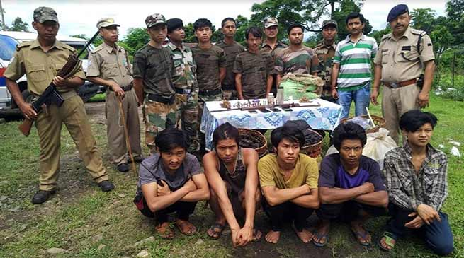 Arunachal: 5, including 2 Myanmar nationals arrested with arms and wild animals meat