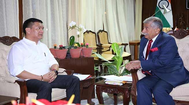 Arunachal Pradesh:Chief Minister calls on the Governor