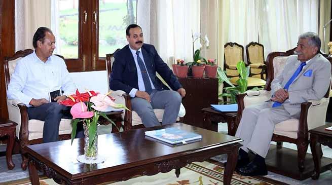 Arunachal:DDG Recruitment (NE Zone) calls on the Governor