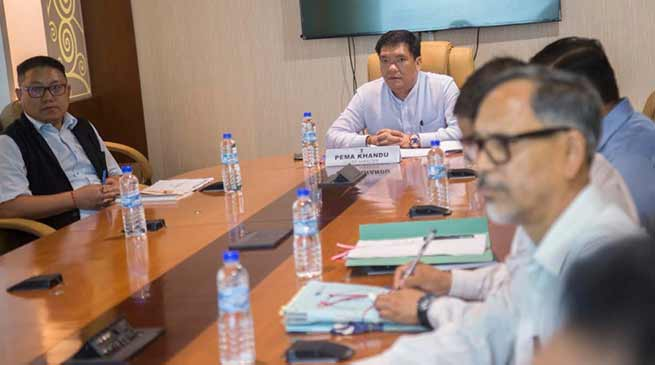 Arunachal: Khandu held review meeting of Land Management dept