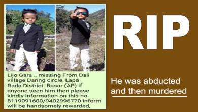 Photo of Arunachal: Man arrested for kidnapping, murder of missing 5-years-old child Lijo Gara