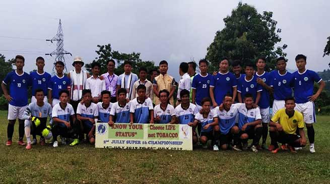 Itanagar: Quarter - Final of 2nd Jully Super 16 Football Championship 2019