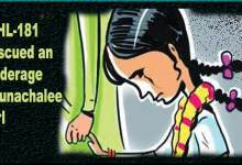 Arunachal women helpline-181 rescued an underage Arunachalee girl