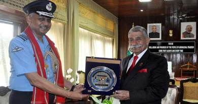 Arunachal: Eastern Air Command Chief calls on the Governor