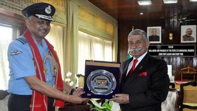 Photo of Arunachal:Eastern Air Command Chief calls on the Governor