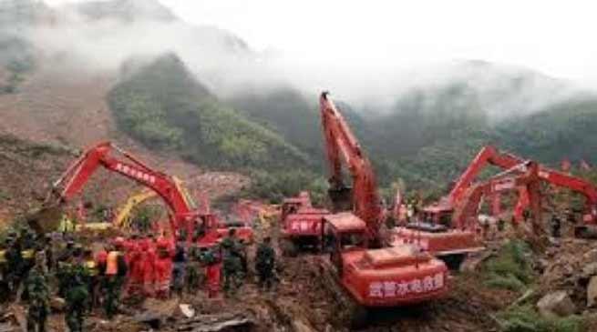 Landslide in China: 15 killed, over 40 still missing