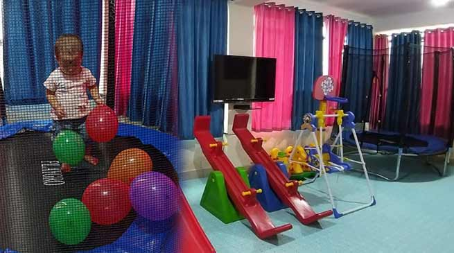 Namsai- crèche room for the children of women working at District Secretariat inaugurated