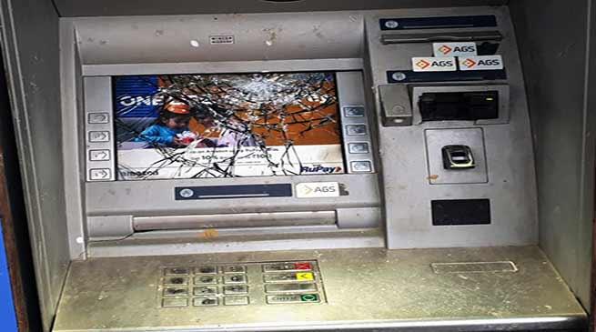 Itanagar: Miscreants vandalized ATM near AP Civil Secretariat