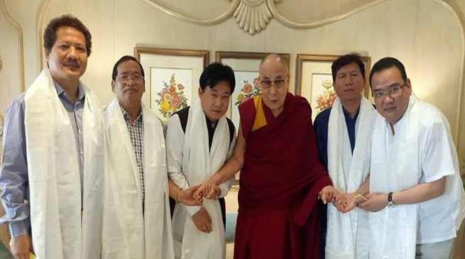 TSG of Arunachal Pradesh extends Birthday greetings to Daliai Lama