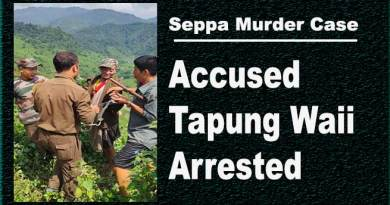 Arunachal: Seppa Murder Case Accused Tapung Waii Arrested
