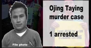 Arunachal: Ojing Taying murder case- 1 arrested