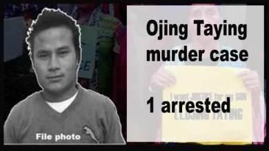 Photo of Arunachal: Ojing Taying murder case- 1 arrested