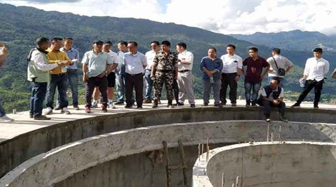 Arunachal: Balo Raja inspects under construction water supply project