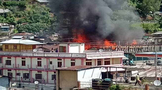 Arunachal: 10 houses gutted in Daporijo Fire