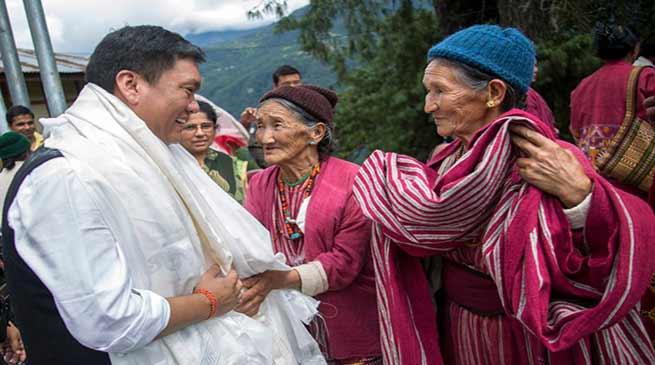 Arunchal: Pema Khandu Accorded Warm Welcome in Tawang