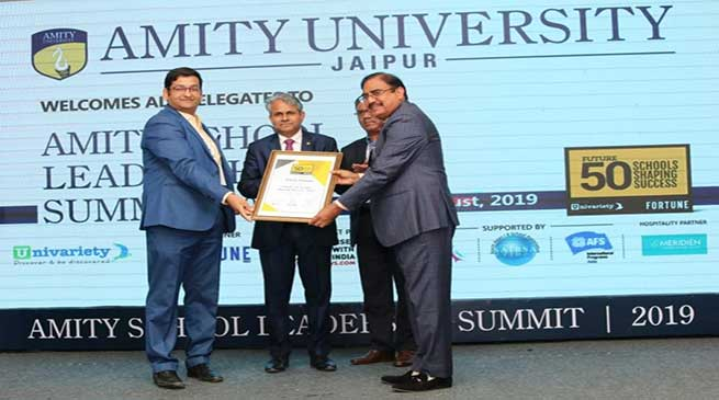 Royal Global School Chairman awarded 'Future 50 Leader Shaping Success, 2019'
