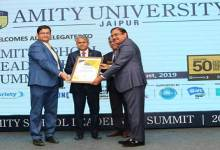 Photo of Royal Global School Chairman awarded 'Future 50 Leader Shaping Success, 2019'