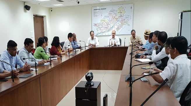 Arunachal: CS Naresh Kumar holds coordination meeting