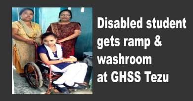 Arunachal: Disabled student gets ramp & washroom at GHSS Tezu