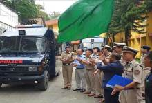 "Itanagar: Felix flags off Riot Control Vehicle"" Vajra"""