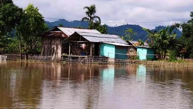 Photo of Arunachal: Hollongi reeling under flood, 15 houses submerged