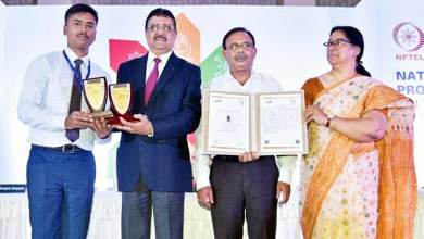 Photo of Arunachal: Pamir Roy, a NERIST Student received National Award from IIT Kanpur and IIT Kharagpur