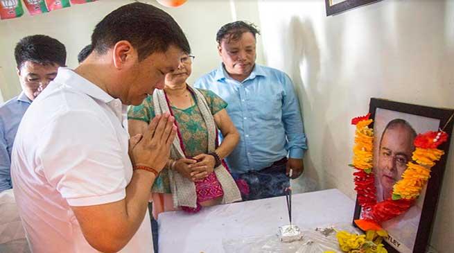 Arunachal CM pays tribute to Arun Jaitley