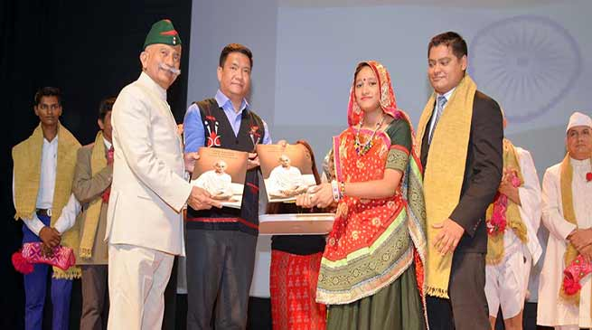 Itanagar: Governor, Chief Minister witness Stage Show on Sardar Patel