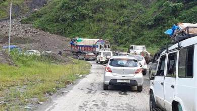 Photo of A highway where people facing landslides, traffic jam everyday