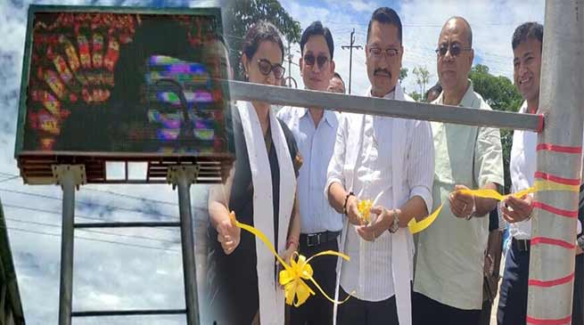 Arunachal: Namchoom inaugurates LED Billboard, Children park in Namsai