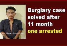 Photo of Itanagar:Burglary case solved after 11 month, one arrested
