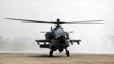 Photo of Apache Helicopter inducted in IAF at Pathankot
