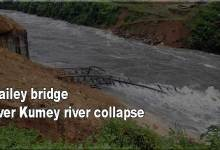 Photo of Arunachal: Newly Constructed Bailey bridge over Kumey river collapse