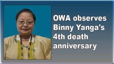 Photo of Arunachal: OWA observes Binny Yanga's 4th death anniversary