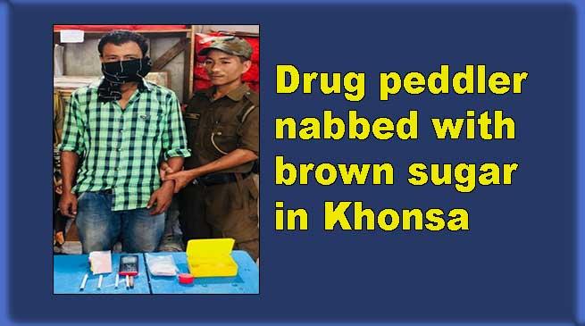Arunachal: Drug peddler nabbed with brown sugar in Khonsa