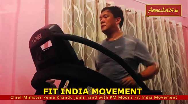 Arunachal: Pema Khandu joins hand with PM Modi's Fit India Movement