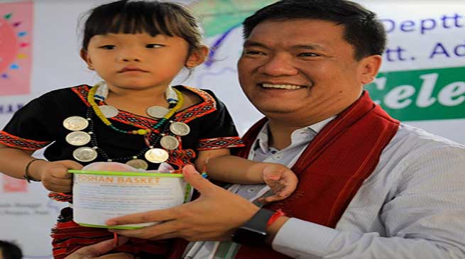 POSHAN Maah: Arunachal CM Tweet a photo on POSHAN Abhiyan