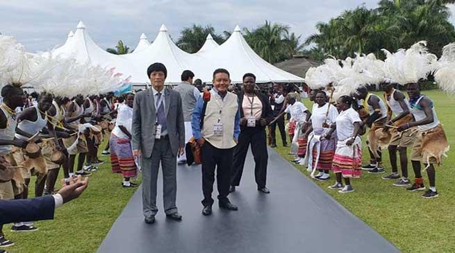 Arunachal Speaker P D Sona reaches Uganda for Common Wealth meat