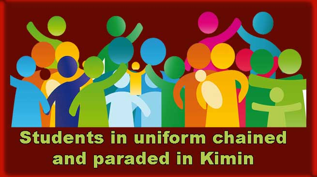 Arunachal: Students in uniform chained and paraded in Kimin