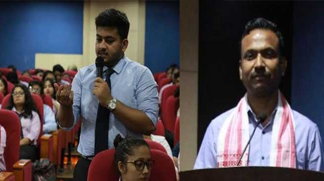 Assam: Surendra Kumar IGP, speaks on 'Role of Duty Bearers in Child Protection' at Royal Global University