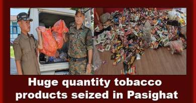 Arunachal:Huge quantity tobacco products seized in Pasighat