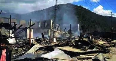 Dirang Fire- Shops, Houses gutted, MLA Phurpa Tsering distributes relief