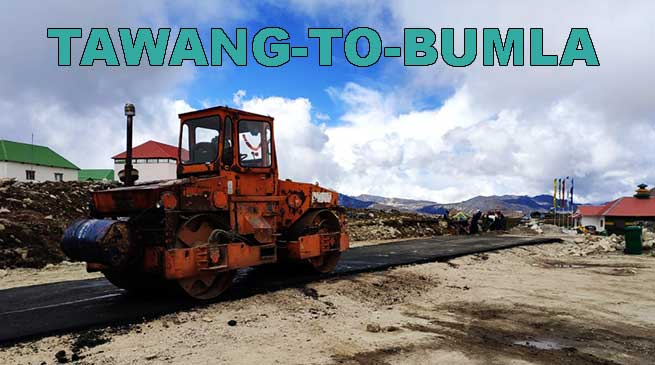Arunachal: BRO starts blacktopping of Tawang-Bumla road