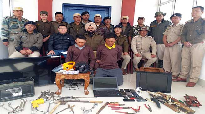 Arunachal: Tawang Police busted Gang of Burglars, Recovered large number of Stolen Goods